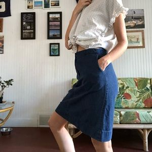 BCBG midi denim skirt